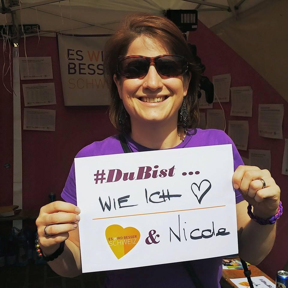 """#DuBist ... tolle Aktion vom Verein """"Es Wird Besser Schweiz""""."""